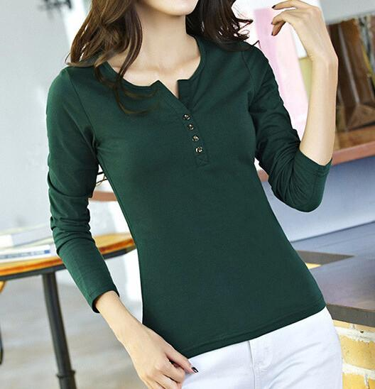 Women's Casual T-Shirt With Long Sleeves