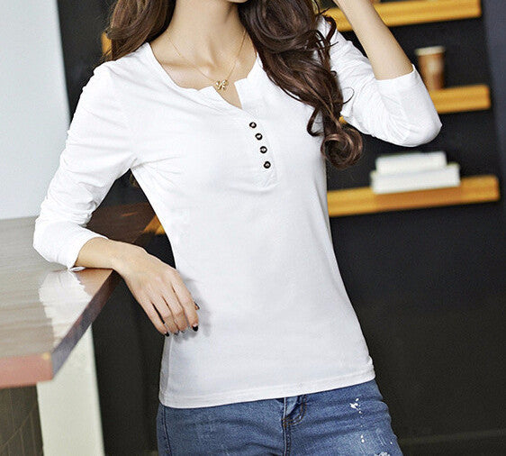 T-Shirt – Women's Casual T-Shirt With Long Sleeves | Zorket
