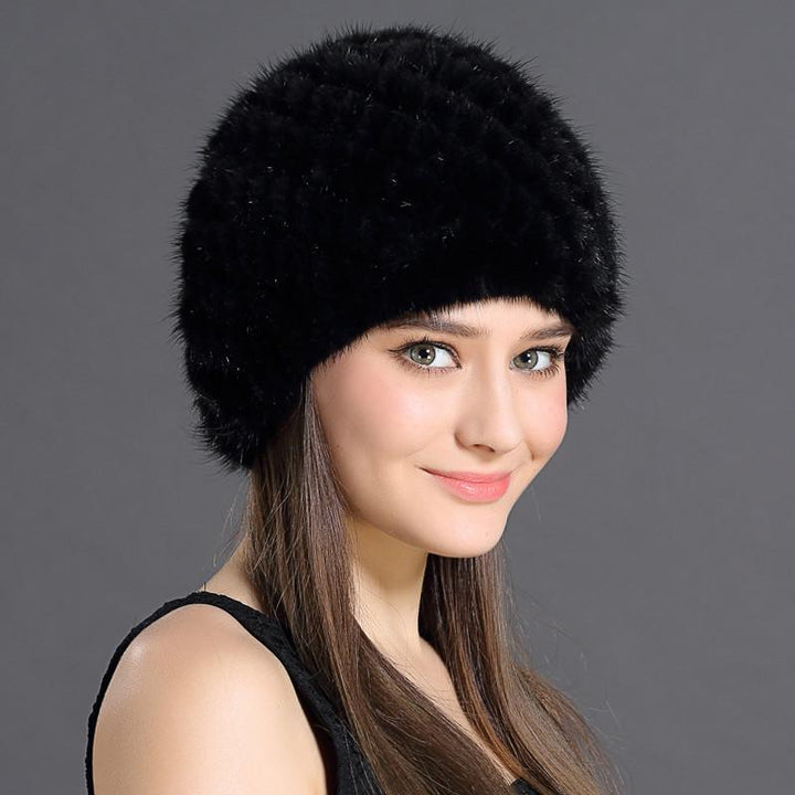 Female Winter Hat With Natural Fur