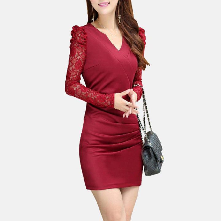 Dress – Elegant Dress With Lace Sleeves | Zorket