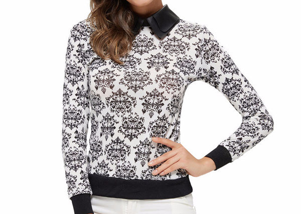 Pullover – Stylish Female Turn-Down Collar Pullover | Zorket