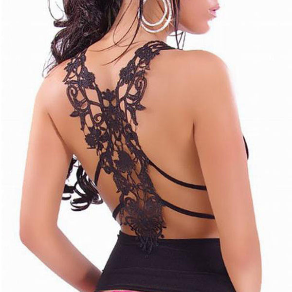 Tank Top – Beautiful Female Tank Top With V-Neck & Lace | Zorket