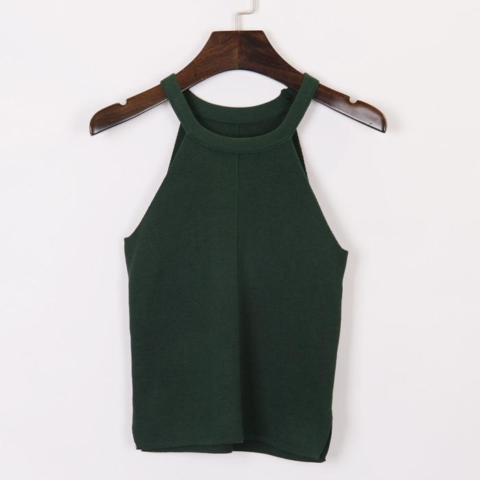 Women's Knitted Top With Straps