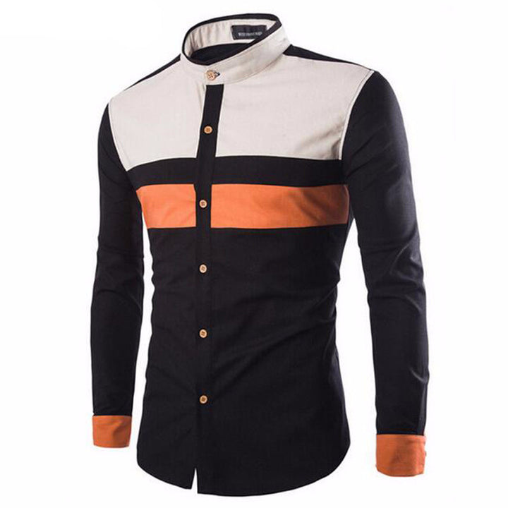 Men's Fashion Slim Casual Stand Collar Shirt - Zorket