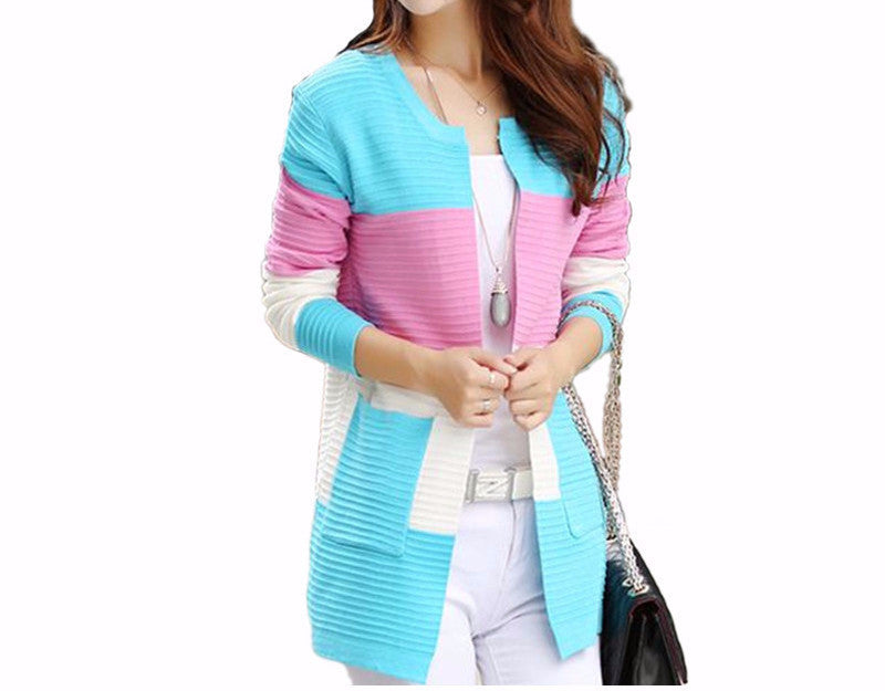 Women's Casual Colorful Cardigan - Zorket