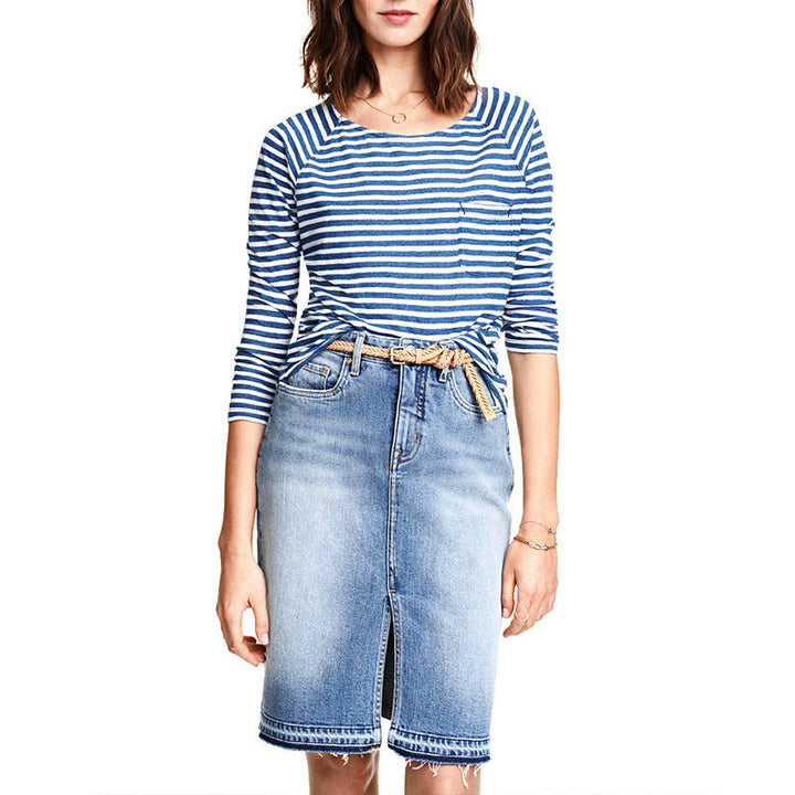 Summer's Women's Casual Denim Skirt - Zorket