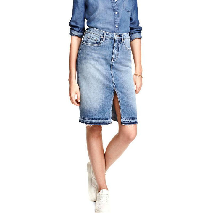 Summer's Women's Casual Denim Skirt
