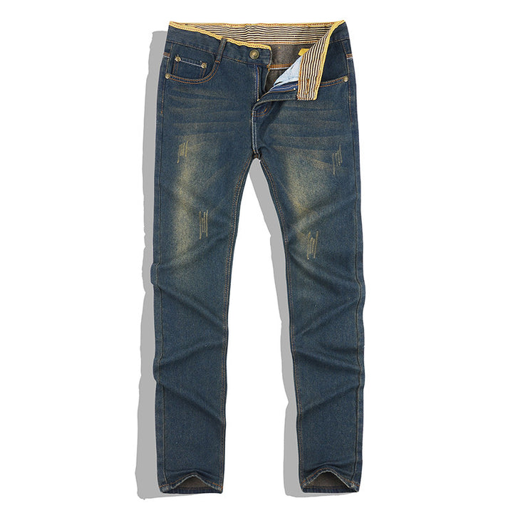 Men's Classic Stright Cotton Jeans - Zorket