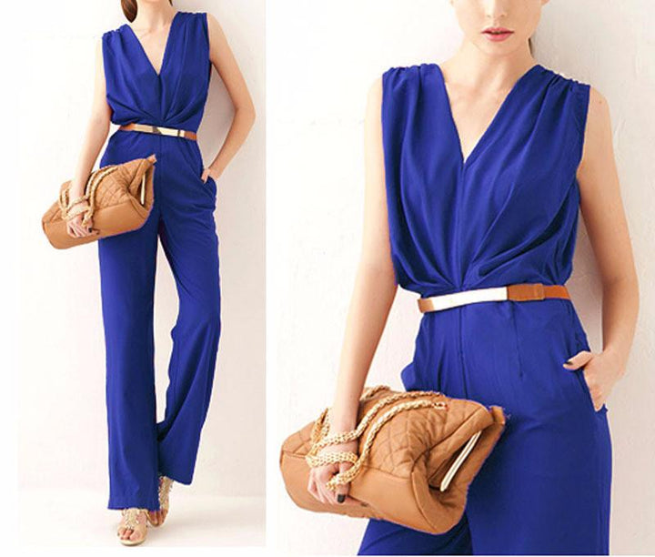 Fashion Loose Cotton Jumpsuit