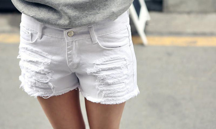 Female Casual Low Waist Denim Shorts