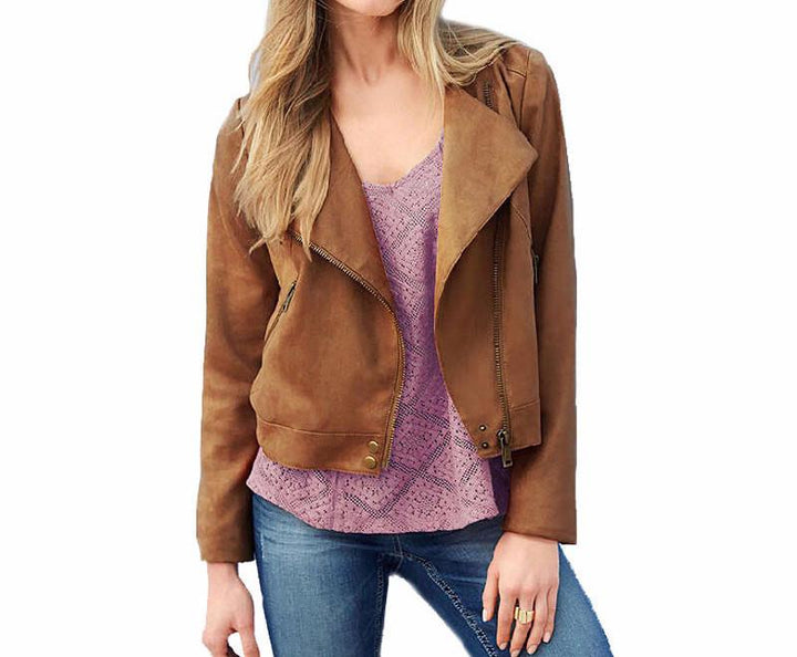 Stylish Women's Casual Jacket With Zipper