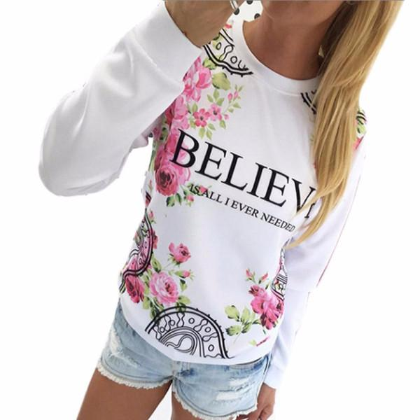 Female Stylish Casual Sweatshirt With Floral Print