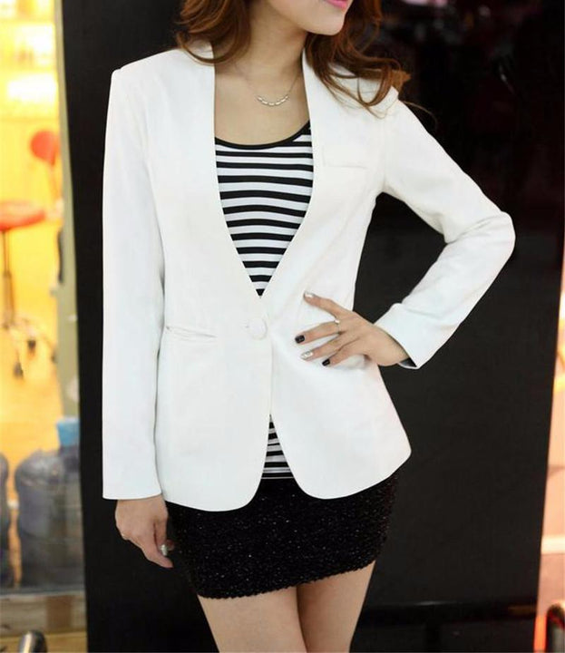 Women's Solid Color Casual Blazer