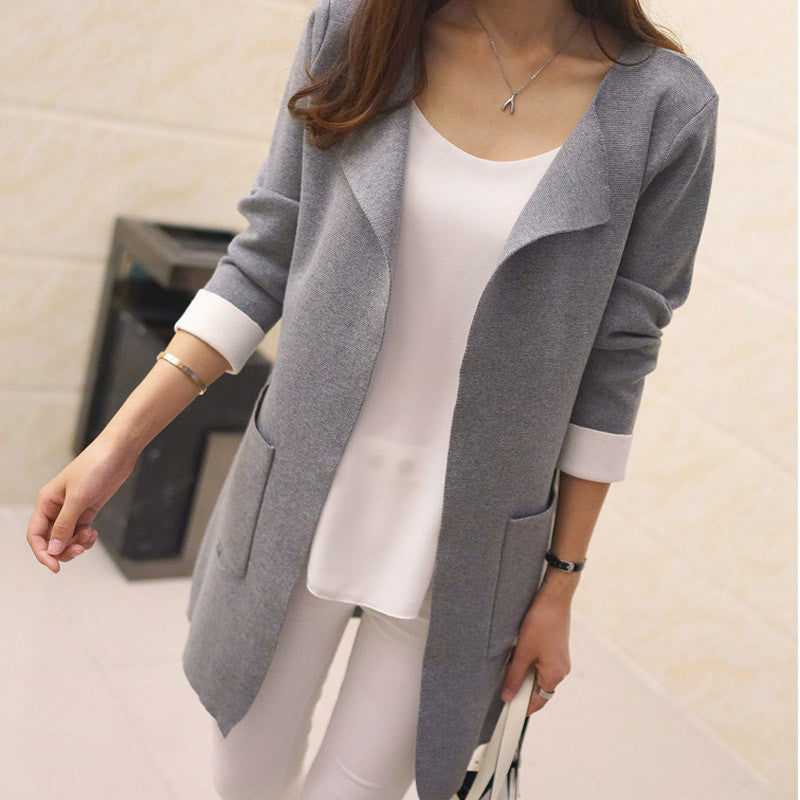 Open Stitch Knitted Cardigan - Zorket