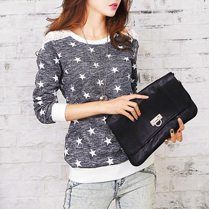Women's Spring / Autumn Casual O-Neck Long Sleeve Tee