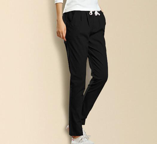 Fashionable Female High Elastic Solid Color Pants
