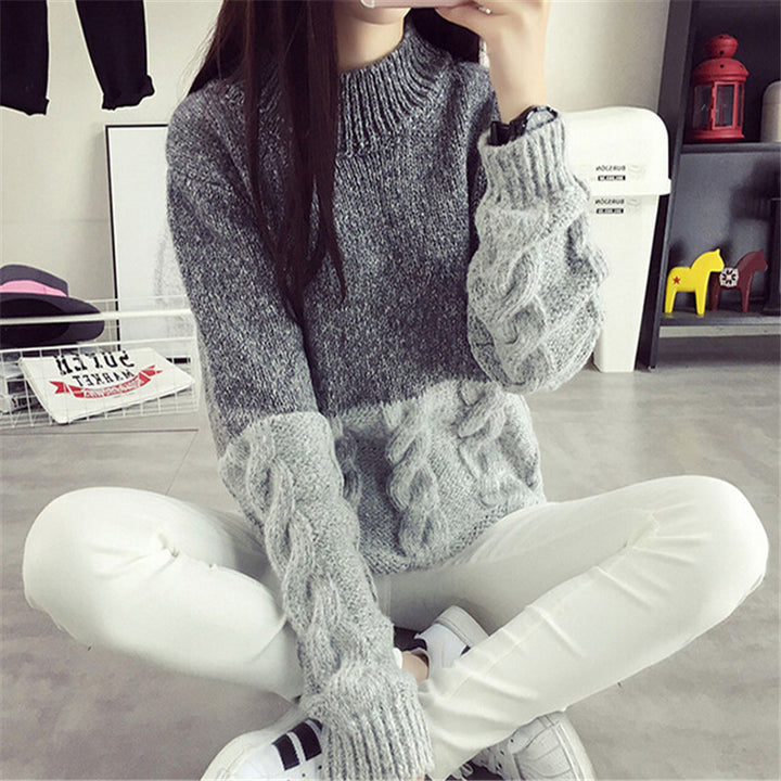 Women's Casual Knit Collar Sweater - Zorket
