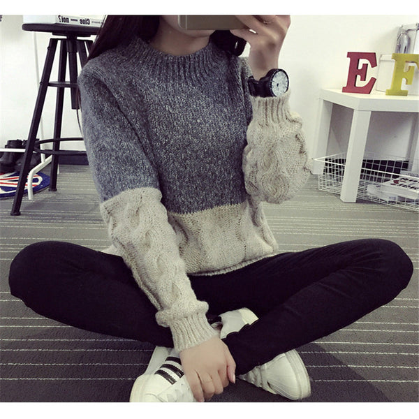Sweater – Women's Casual Knit Collar Sweater | Zorket