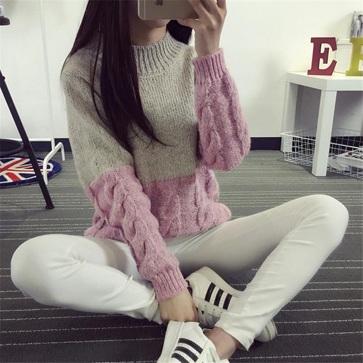 Women's Casual Knit Collar Sweater