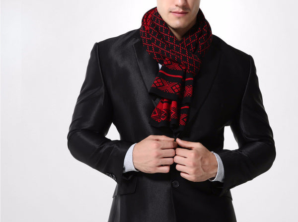 Scarf – Men's Plaid Knitted Scarf | Zorket