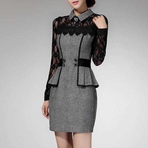 Dress – Autumn Business Lace Dress | Zorket