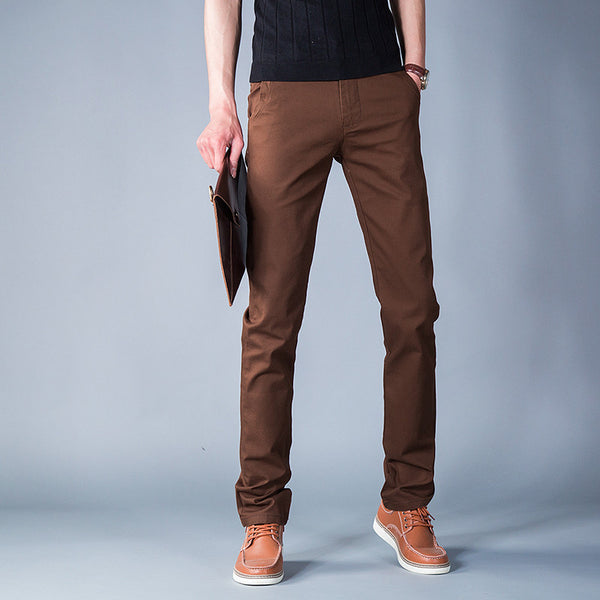 Casual Pants – Men's Brown Straight Casual Pants | Zorket