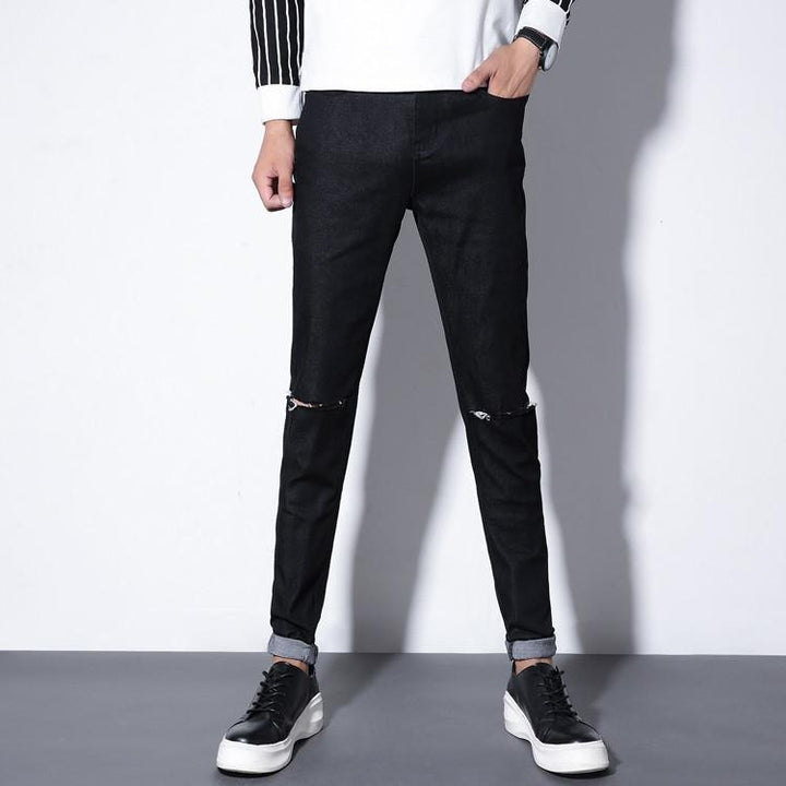 Men's High Quality Casual Ripped Skinny Jeans