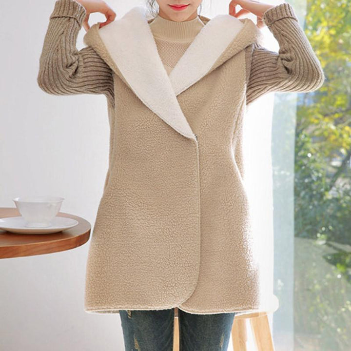 Women's Autumn / Winter Patchwork Kintted Sleeve Jacket