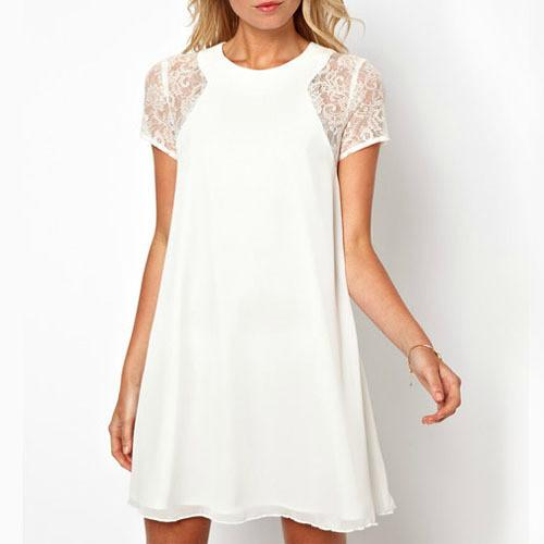 Women's Casual Lace Patchwork Dress