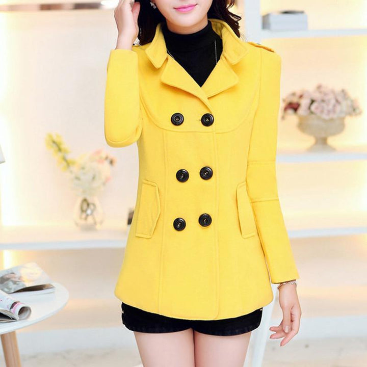 Warm Trench Coat of Cotton for Winter Season