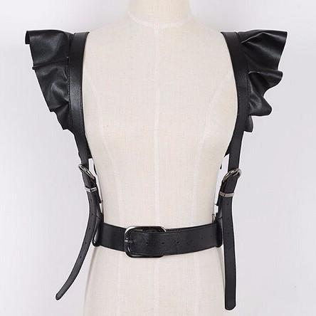 Women's Faux Leather Belt Suspender
