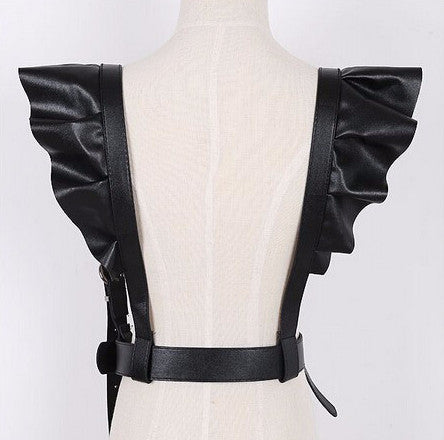 Women's Faux Leather Belt Suspender - Zorket