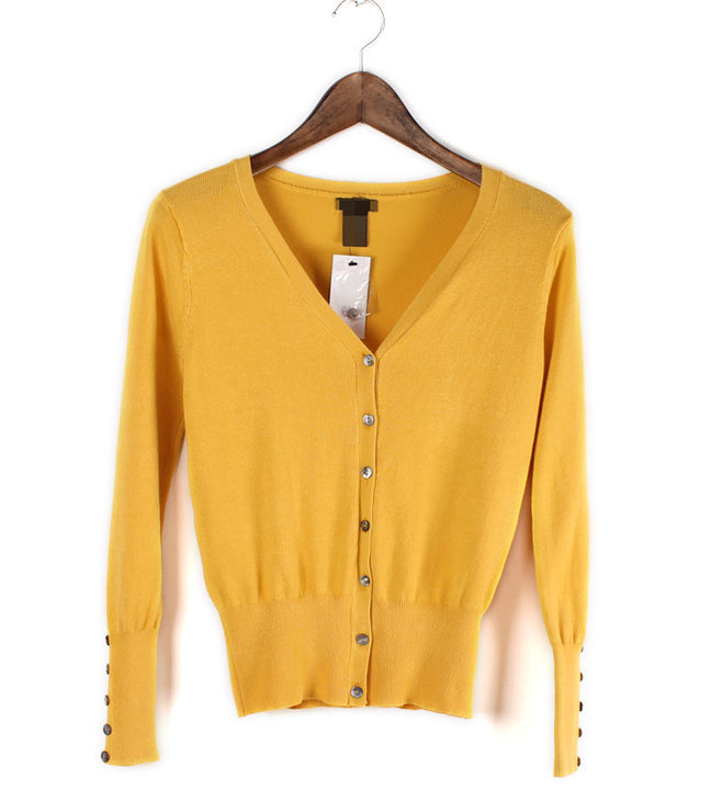 Female Casual Cardigan With V-Neck - Zorket
