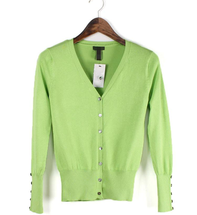 Female Casual Cardigan With V-Neck
