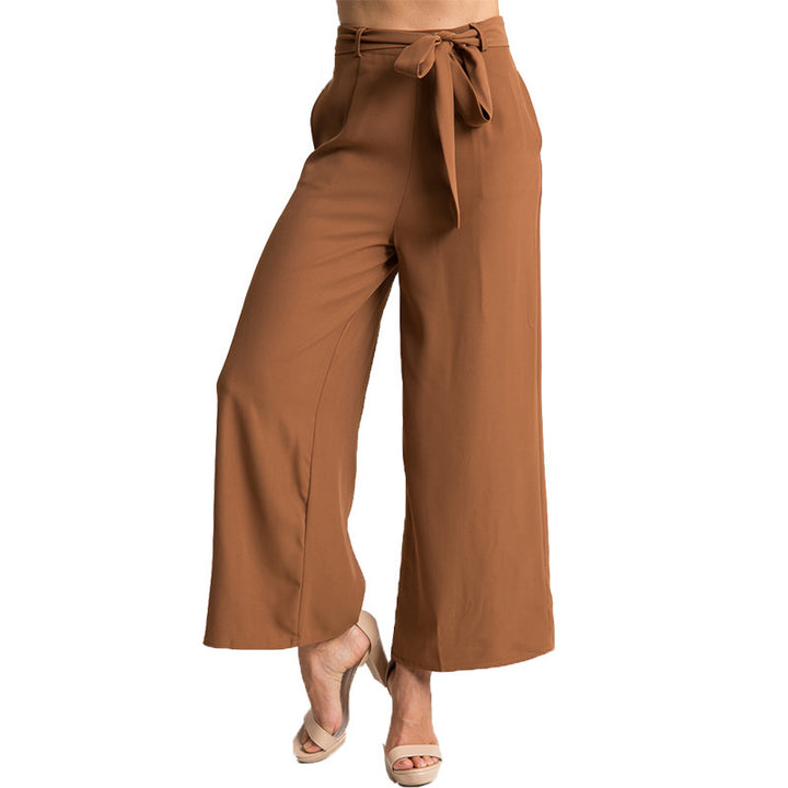 Women's Vintage Loose Solid Color Wide Pants - Zorket