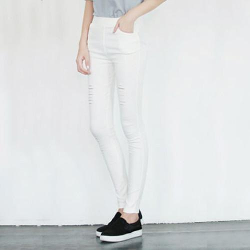 Fashion Ripped Pencil Skinny Denim Pants