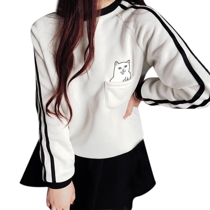 Fashionable Women's Casual O-Neck Sweatshirt