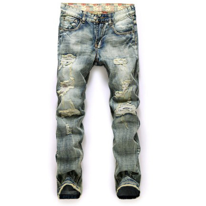 Men's Straight Casual Denim Pants - Zorket