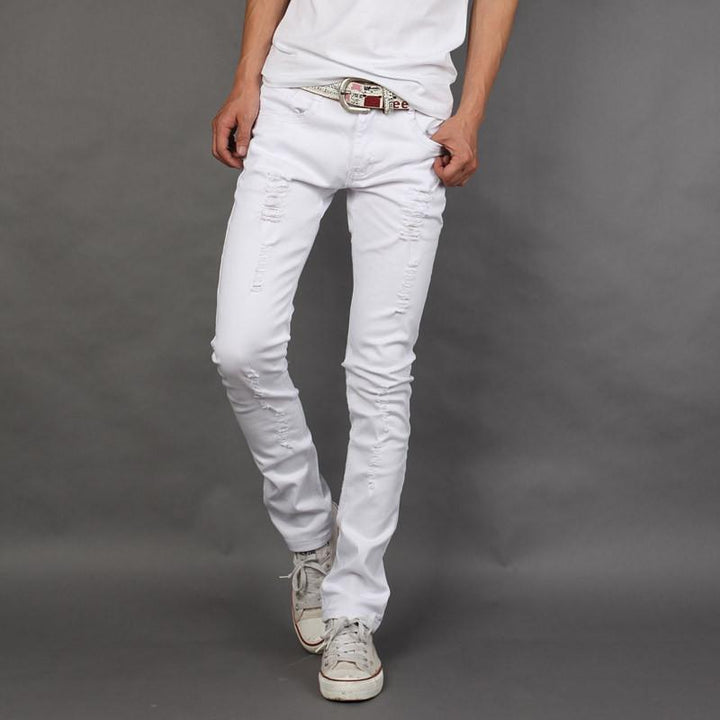 Slim Fit Men's High Quality White Jeans