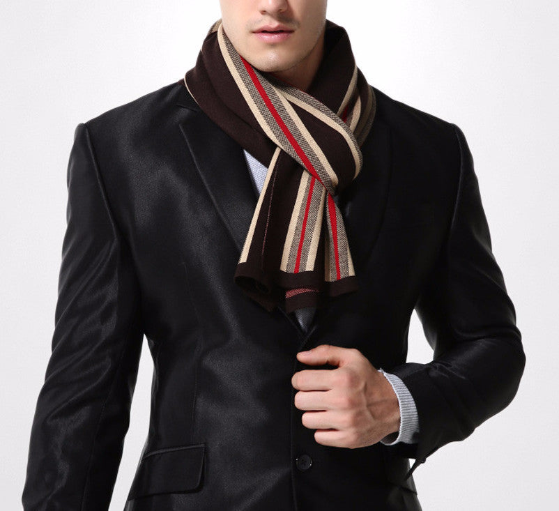 Men's Fashionable Warm Wool Scarf - Zorket