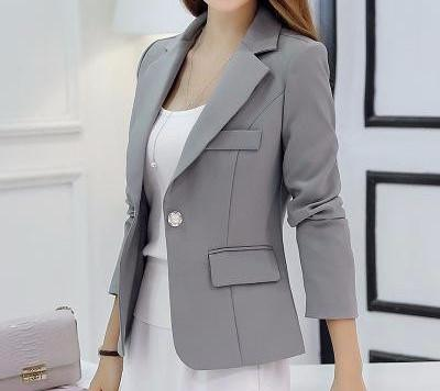 Female Long-Sleeve Turn-Down Collar Blazer