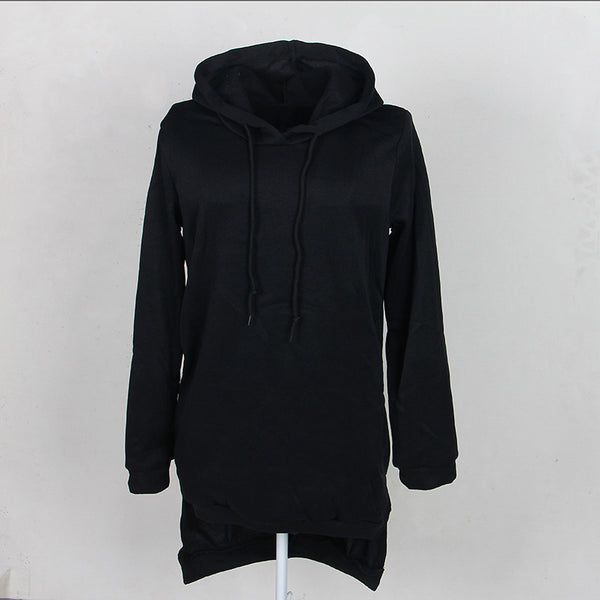 Hoodies & Sweatshirts – Fashionable Women's Long Hoodie With Front Pocket | Zorket
