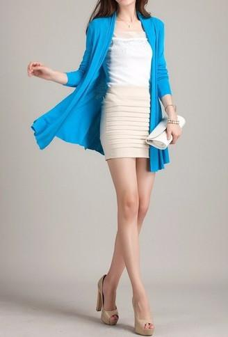 Women's Casual Fashion Color Cardigan Without Zipper