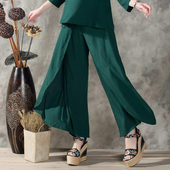 Women's Vintage Solid Color Pants