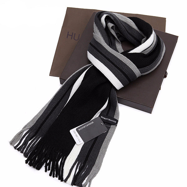 Scarf – Men's Striped Autumn & Winter Scarf | Zorket