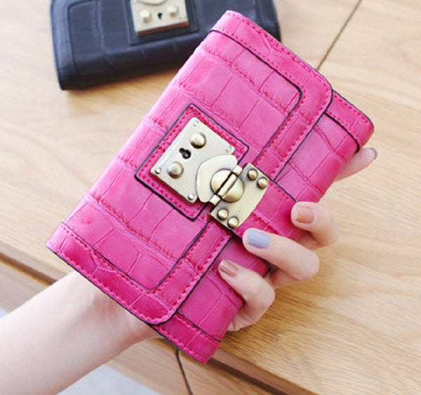 Wallet – Fashion Women's Short PU Leather Clutch High Quality Wallet | Zorket