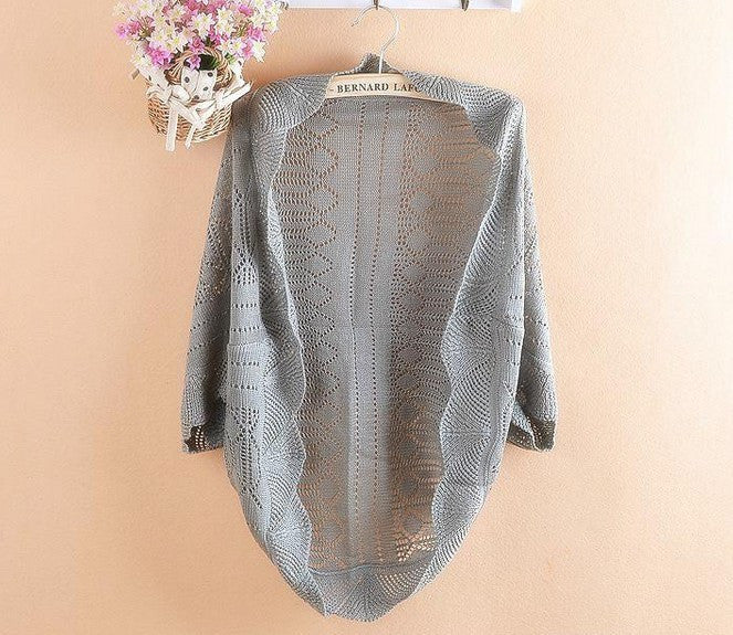 Women's Thin Casual Cardigan With Lace - Zorket
