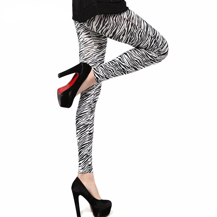 Female Zebra Stripes Leggings
