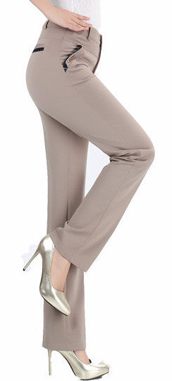 Female High Elastic Elegant Pants - Zorket