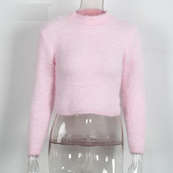 Stylish Female Short Sweater - Zorket